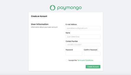 Create your Paymongo account