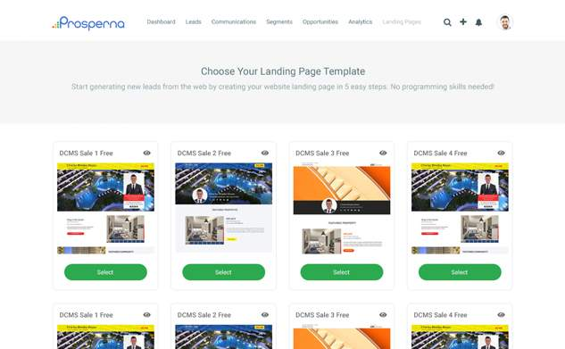 Real estate landing pages designed to convert